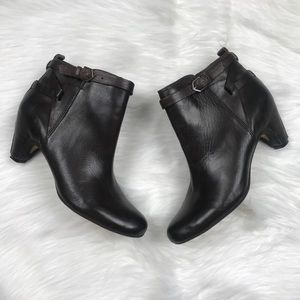 Sam Edelman Maddox Brown Leather Ankle Boots